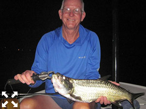 Bob Delano, from GA, with a juvenile tarpon.