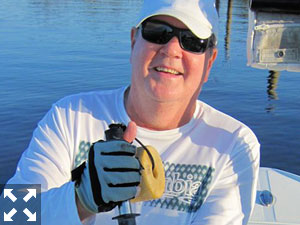 Look for flounder in shallow water, potholes, and around bars during Sept. Jack McCulloch, from Lakewood Ranch, caught this one on a CAL jig with a shad tail while fishing Tampa Bay in a previous Sept.