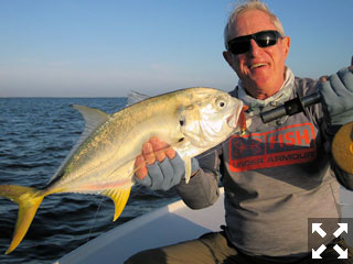 Marshall Dinerman, from Lido Key, with a jack crevalle caught and released on a CAL jig with a shad tail while fishing Sarasota Bay with Capt. Rick Gassett in a previous November..