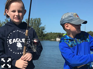 Young Connor and Cooper were down from Tampa this weekend. The boys were working on their fishing skills.