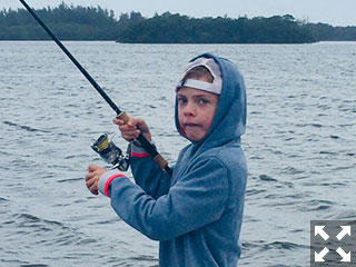 Some people take their fishing very seriously no matter what the age.