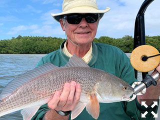Keith McClintock, from Lake Forest, IL, had good action catching and releasing numerous reds on CAL jigs with shad and grub tails on a couple of different trips with Capt. Rick Grassett.