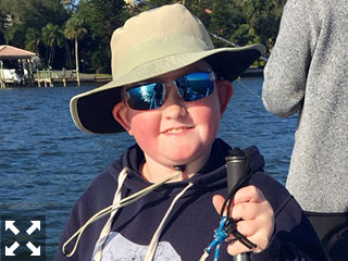This little man was all smiles on the water this past week with  Capt Brandon Naeve.