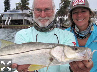 Mark and Jenny Nichols, of DOA Lures, fished Gasparilla Sound with Capt. Rick Grassett in a previous April.