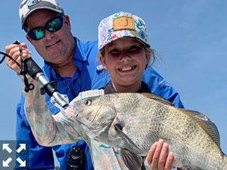 Capt. Kelly Kurtz and a young angler had some fun on the water this past week.