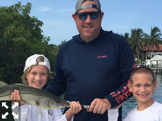 Brian and his two sons had a great day on the water catching over 40 fish.