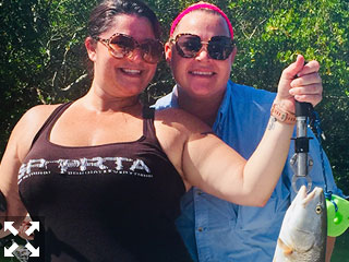 These two hard working nurses enjoyed a day out on the water fishing complements of Capt. Brandon Naeve.