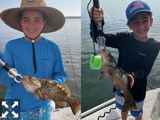 These two brothers Cyrus and Kai had a banner day catching gag grouper up to 20 inches and many beautiful trout too.
