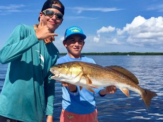 These two were certainly having a great time out on the water with Capt. Brandon Naeve this past week.