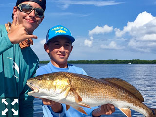These two were certainly having a great time on the water with Capt. Brandon Naeve.