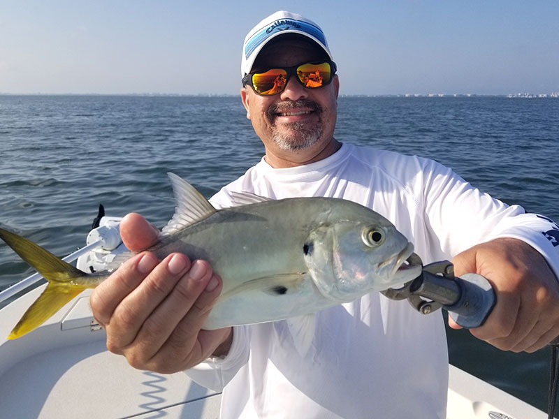 On the water with Capt. Terry Simmons.