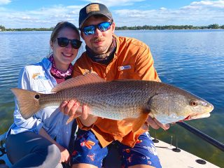 On the water with Capt. Brian Boehm.