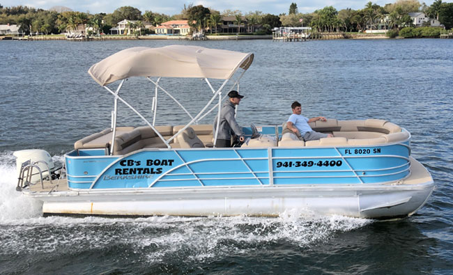 24′ Berkshire Pontoon Boat