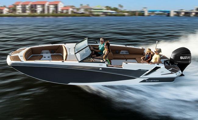 24' Glastron Deck Boat