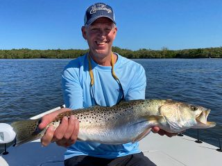 On the waters of Sarasota Bay with Capt. Brian Boehm.