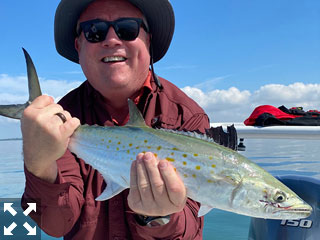 Mitch Burks enjoyed a picture perfect day on Sarasota Bay.