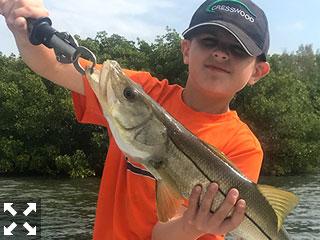 Young Cooper had a day of fun fishing on Sarasota Bay.