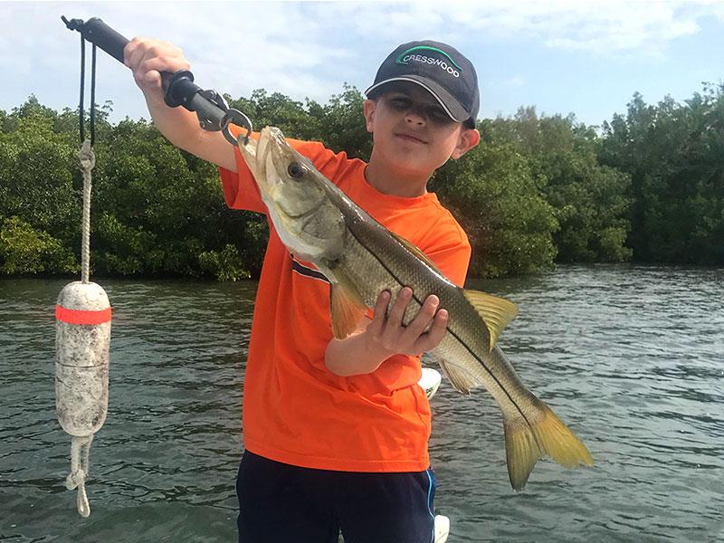 Cooper had a day of fun fishing on Sarasota Bay.