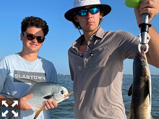 On the water with Capt. Brandon Naeve.