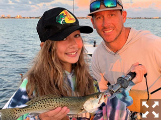Ross Tornabene and his daughter, Gianna had some action catching and releasing trout, snook and juvenile tarpon on DOA Lures fishing Sarasota Bay with Capt. Rick Grassett recently.