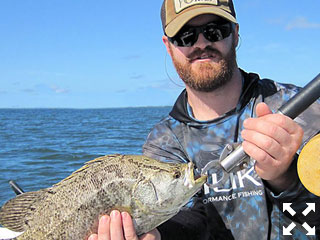 Kyle Roland, from Indianapolis, with a tripletail. There should be lots of fly fishing options in October.